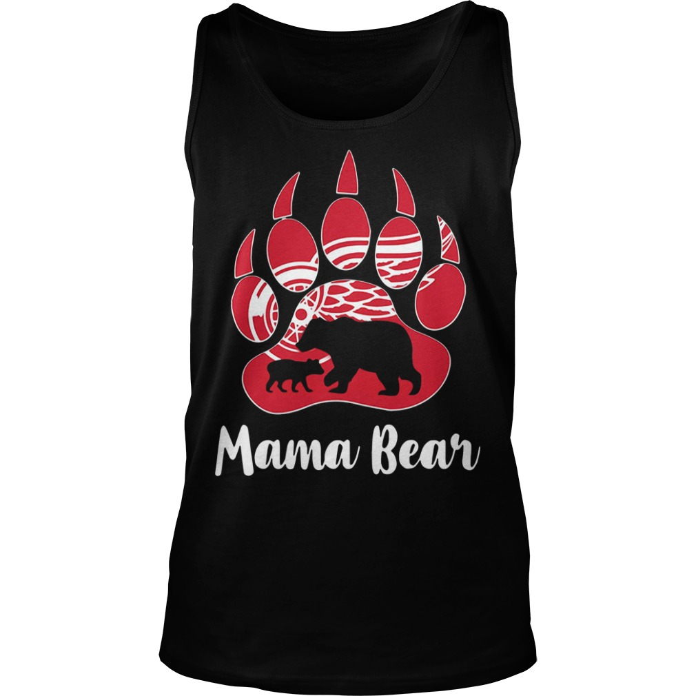 Detroit red wings Mama Bear Paw Tank Top