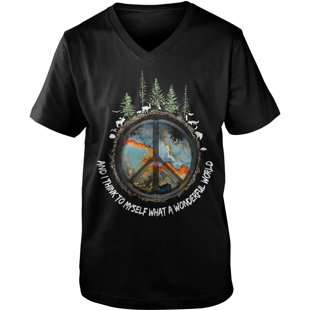 The earth's environment and I think to myself what a wonderful world Guy V-Neck
