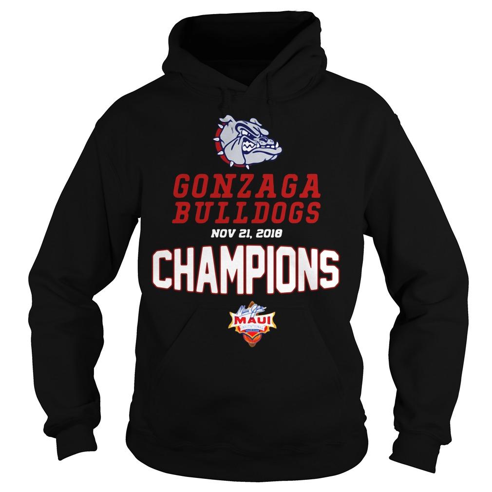 Gonzaga Bulldogs Maui Champions 2018 Hoodie