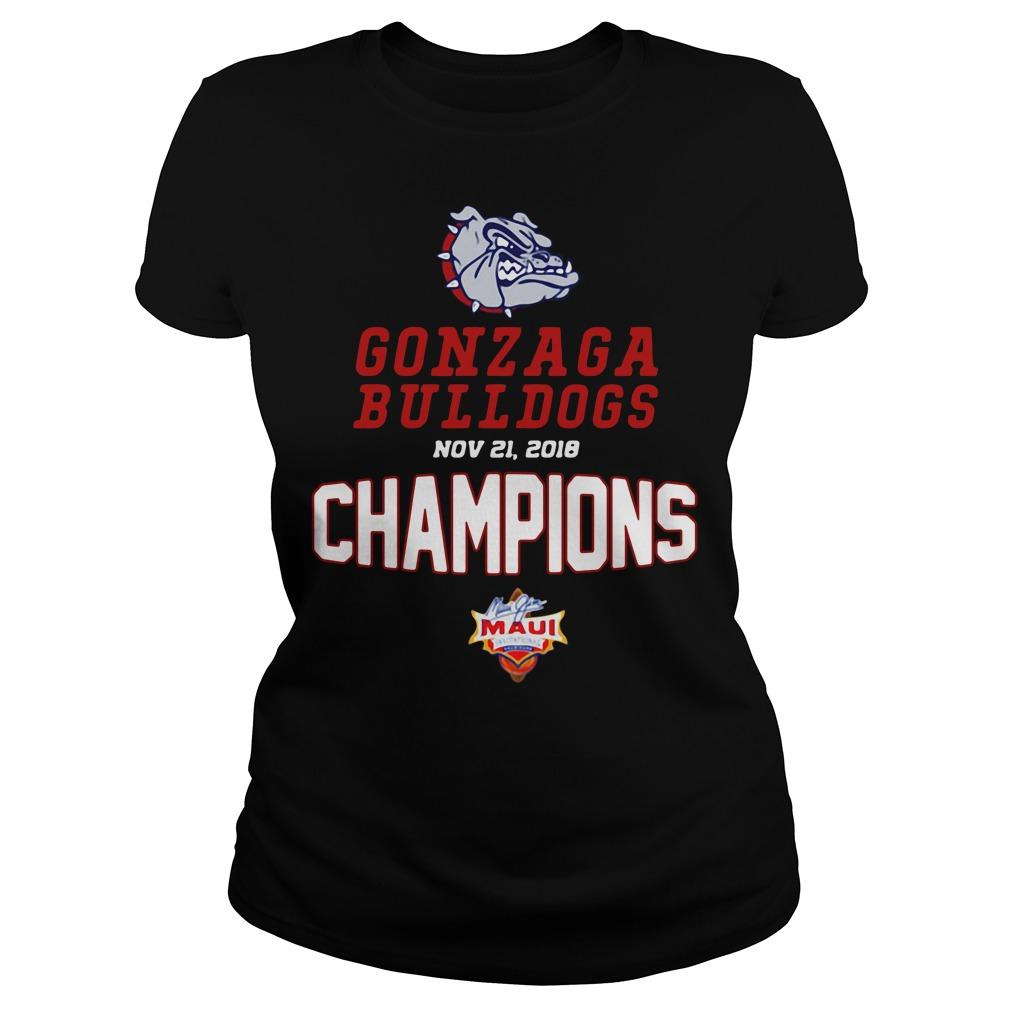 Gonzaga Bulldogs Maui Champions 2018 Ladies Tee