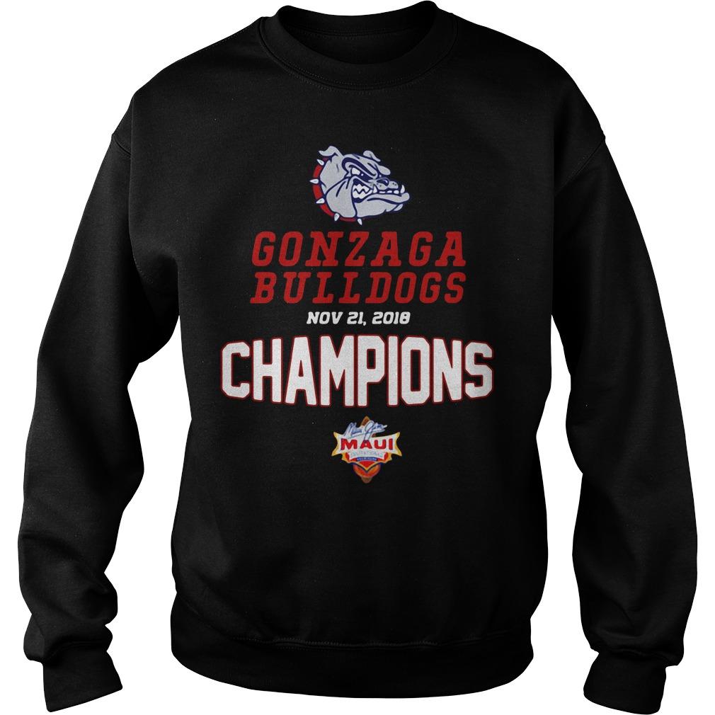 Gonzaga Bulldogs Maui Champions 2018 Sweater