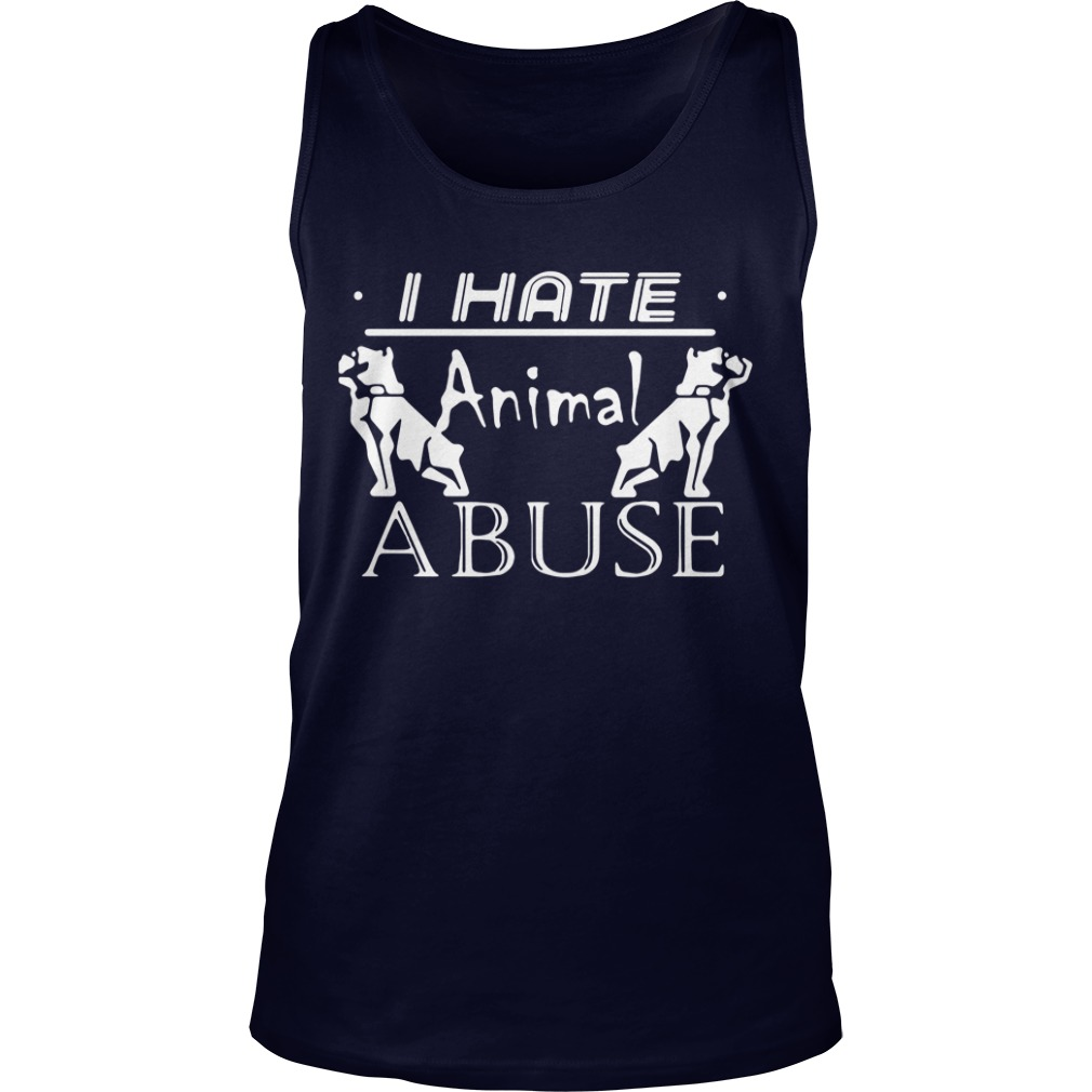 I hate animal abuse Tank Top