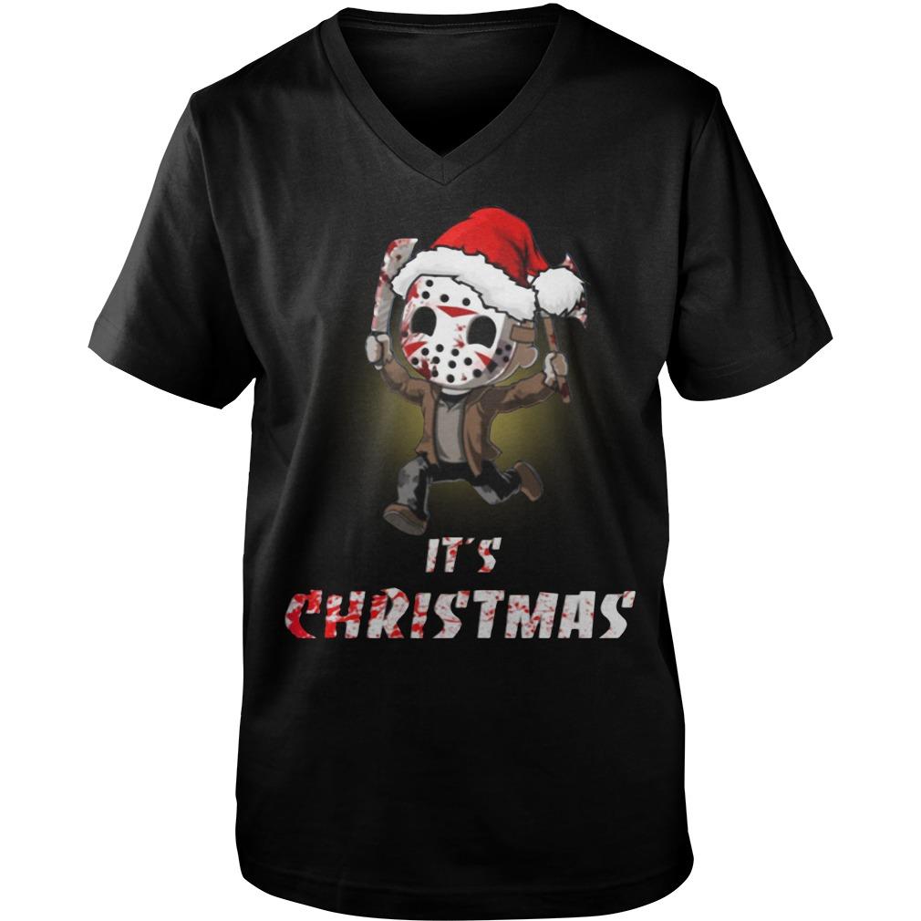 Jason Voorhees It's Christmas Guy V-Neck