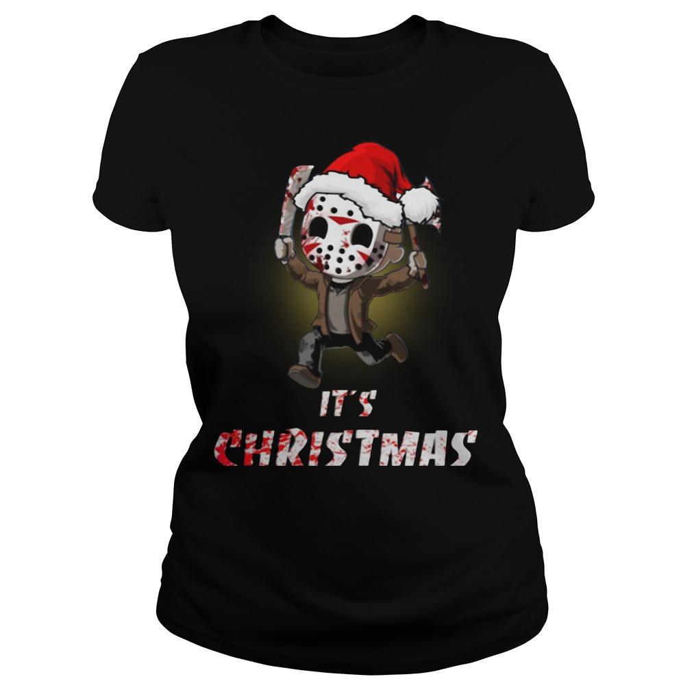 Jason Voorhees It's Christmas Ladies Tee