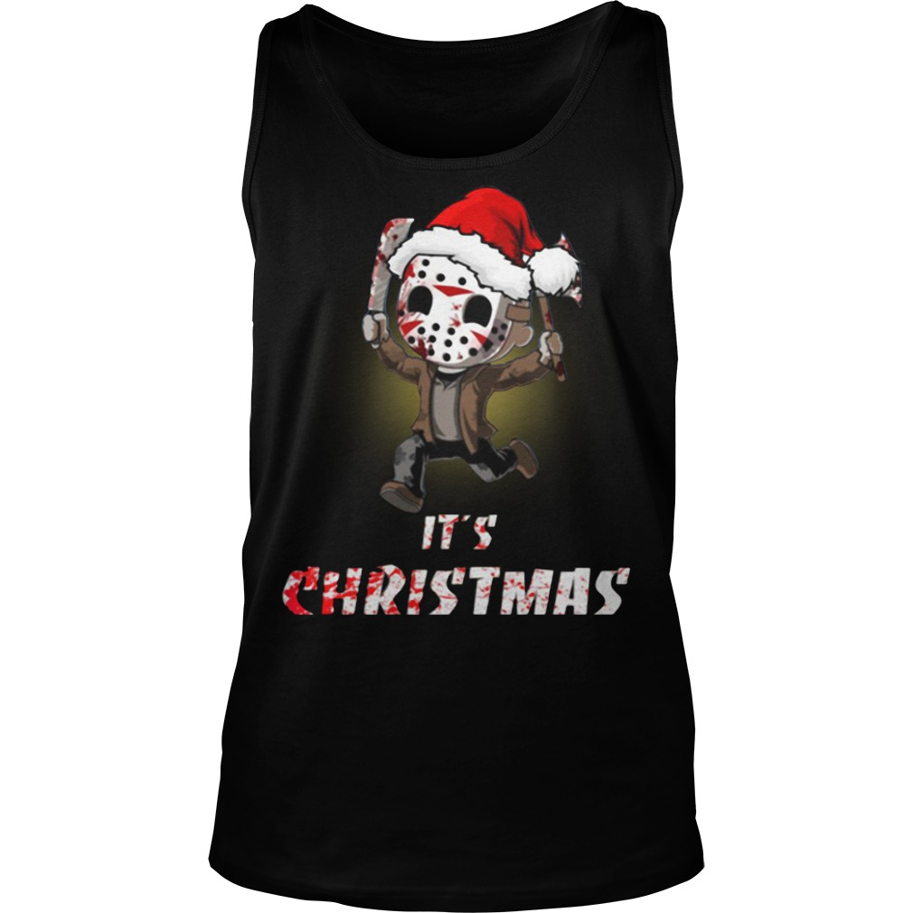 Jason Voorhees It's Christmas Tank Top