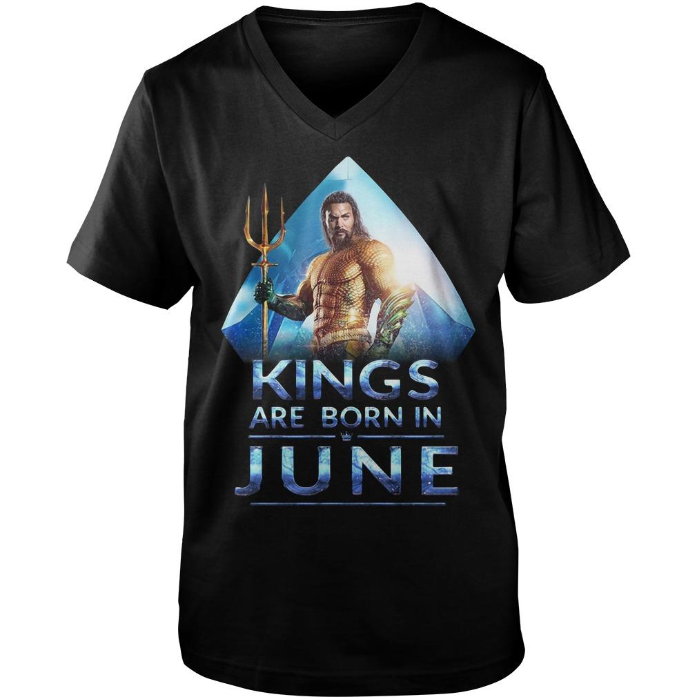 Aquaman Kings are born in June Guy V-Neck