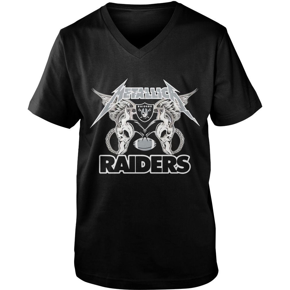 Metallica Oakland Raiders Guy V-Neck