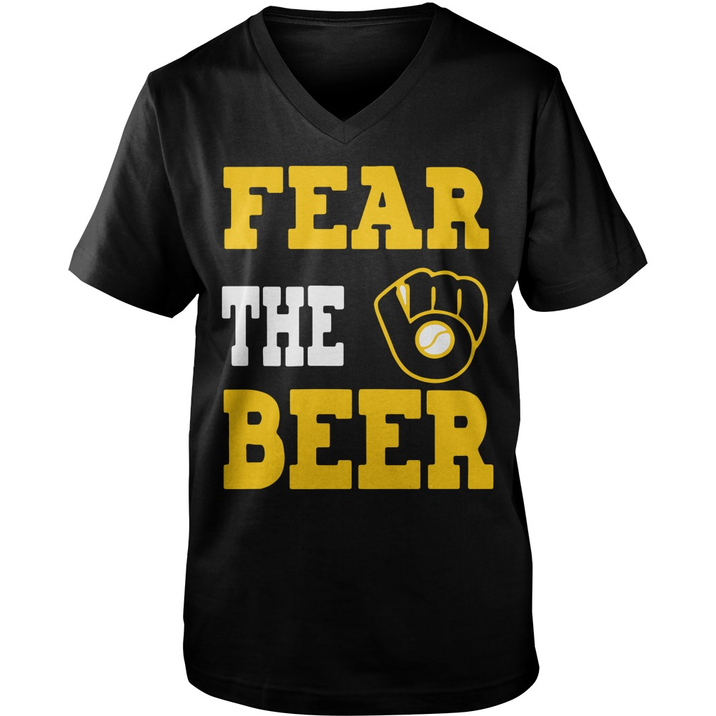 Milwaukee Brewers fear the beer Guy V-Neck