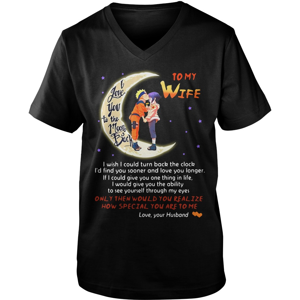 Naruto husband to wife love you to moon and back Guy V-Neck