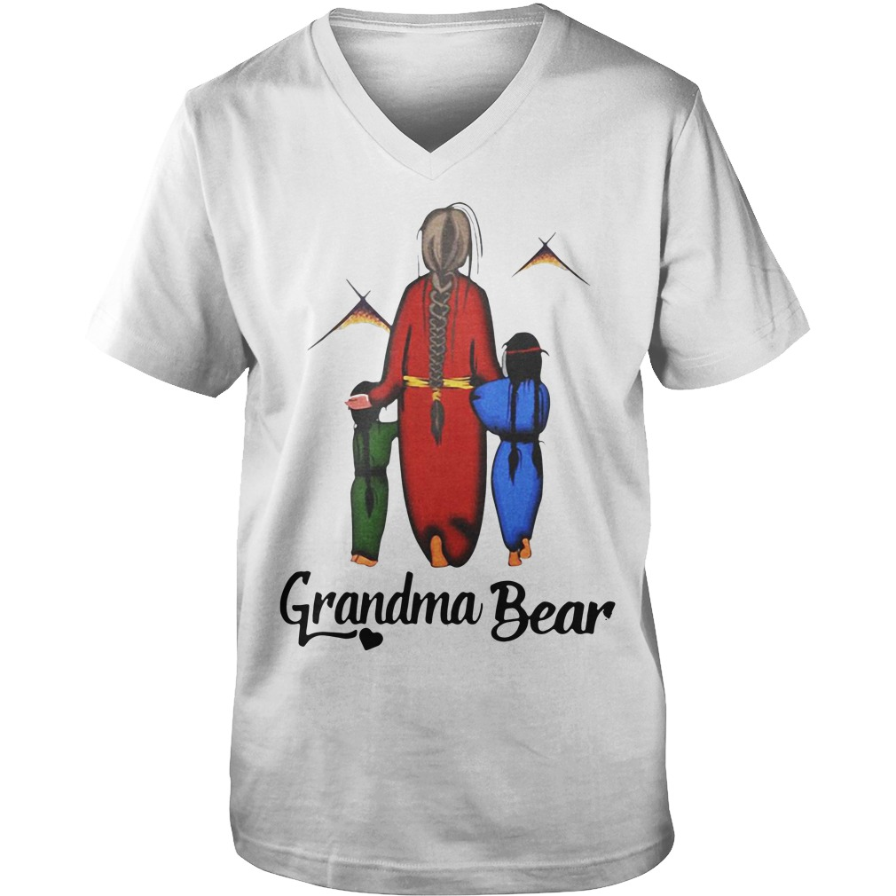 Native Americans Grandma bear Guy V-Neck