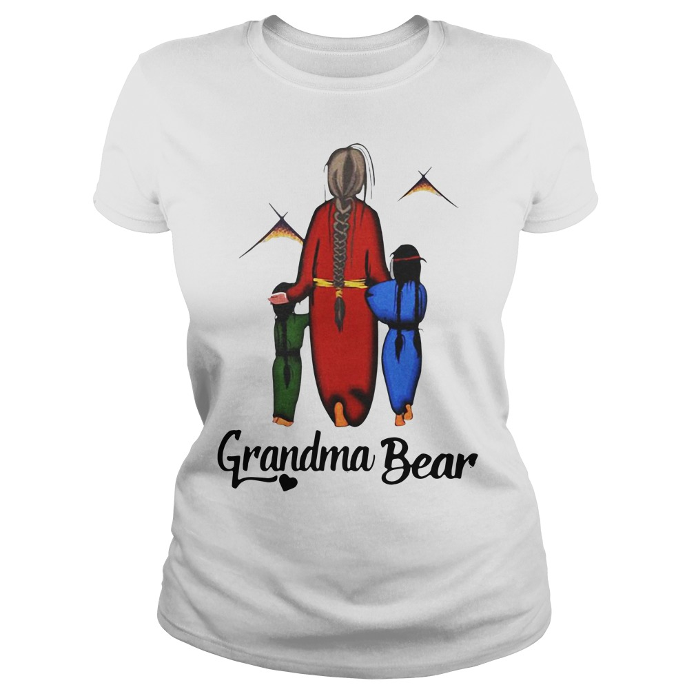 Native Americans Grandma bear Ladies Tee