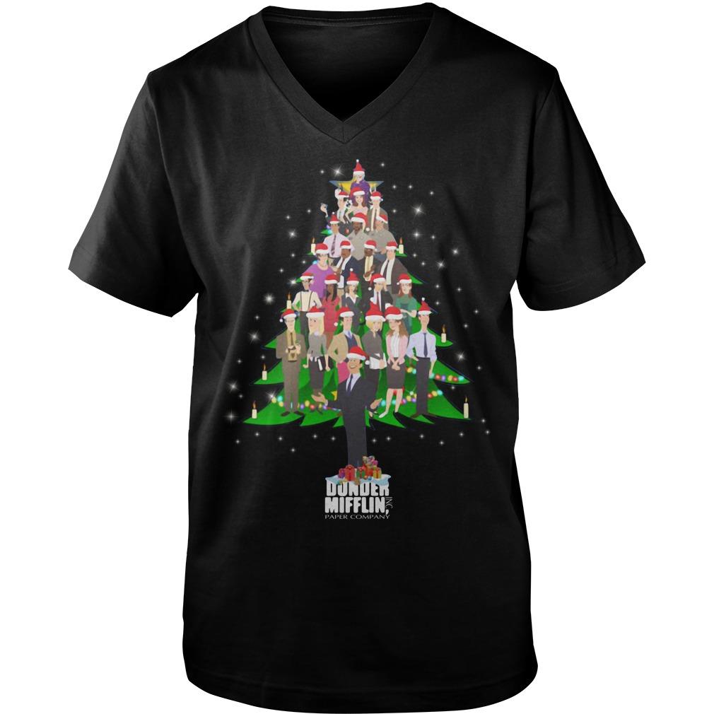 The Office Dunder Mifflin Christmas tree Guy V-Neck