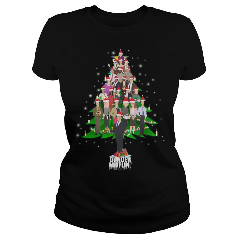 The Office Dunder Mifflin Christmas tree Ladies Tee