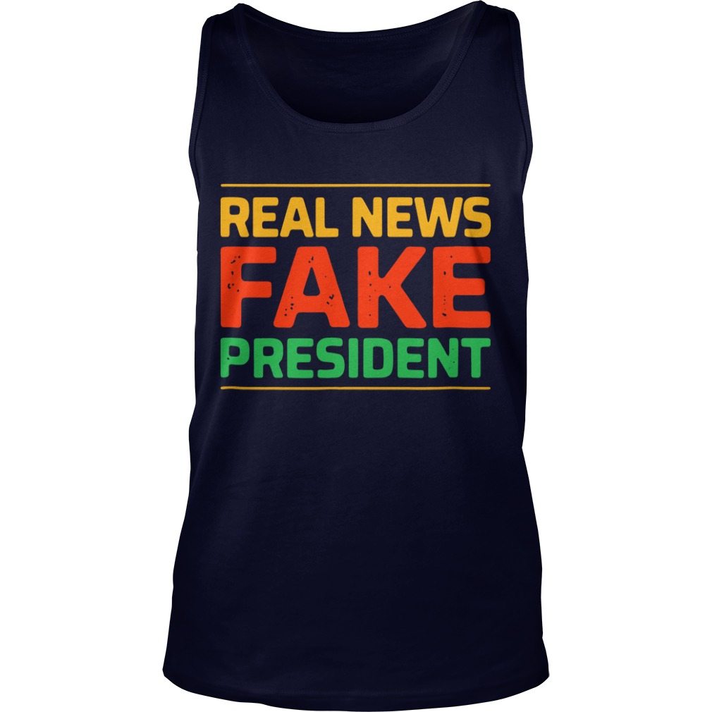Real news fake president Tank Top