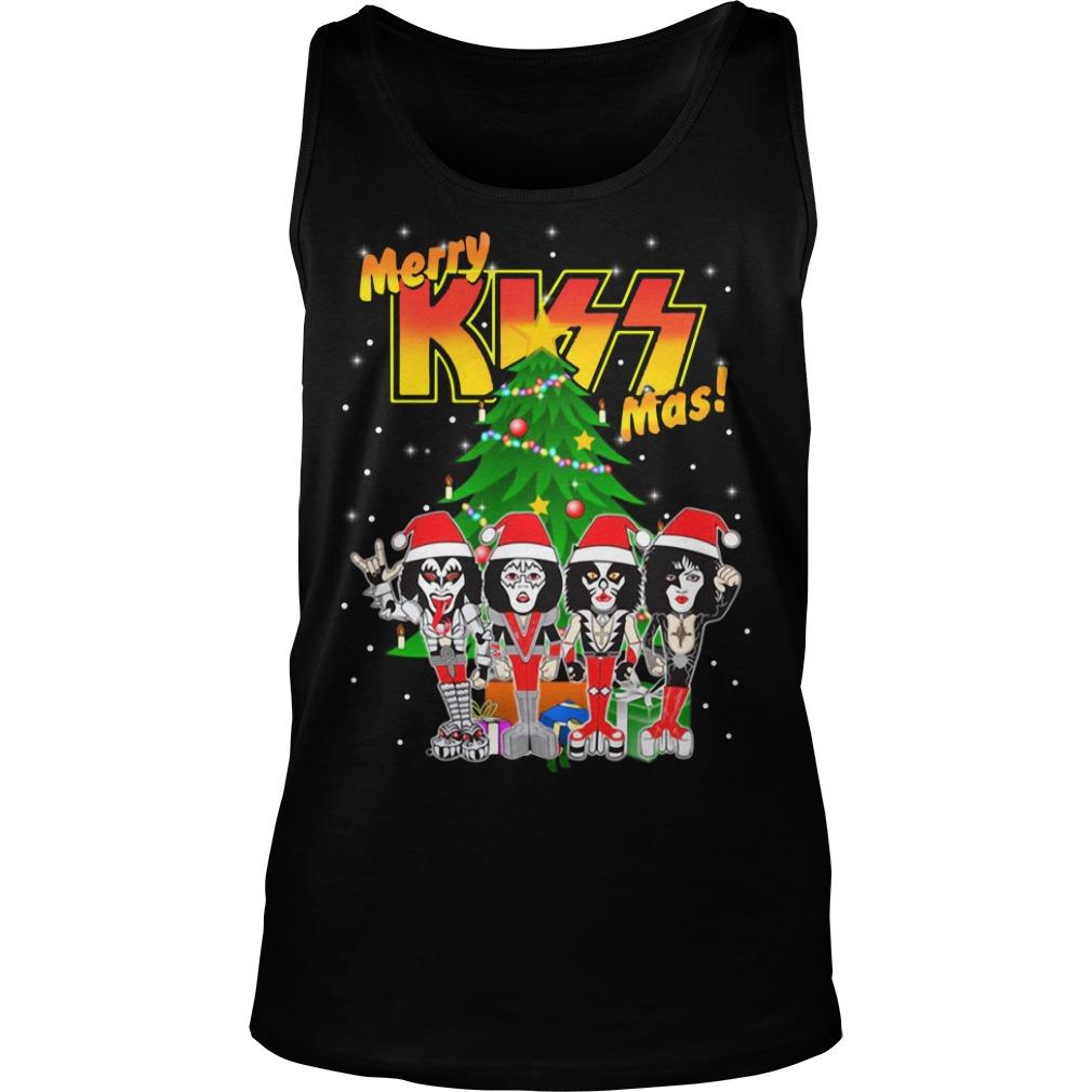 Rock and Roll over kiss merry Kissmas- Kiss Christmas Tank Top