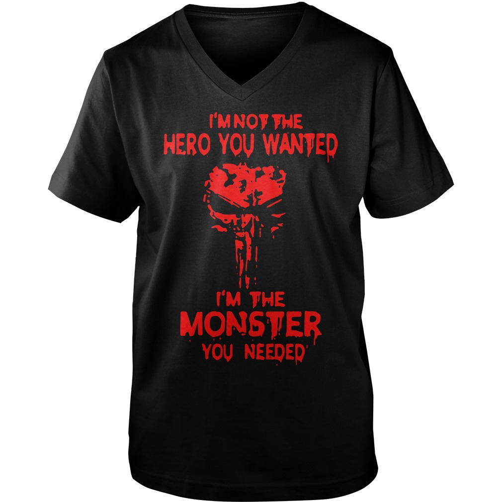 Skull I'm not the hero you wanted I'm the monster you needed Guy V-Neck
