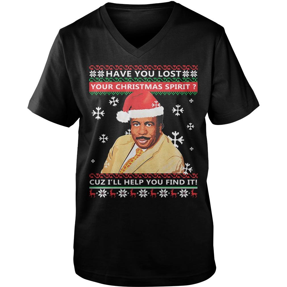 Steve Harvey have you lost your Christmas spirit cuz I'll help you find it Guy V-Neck