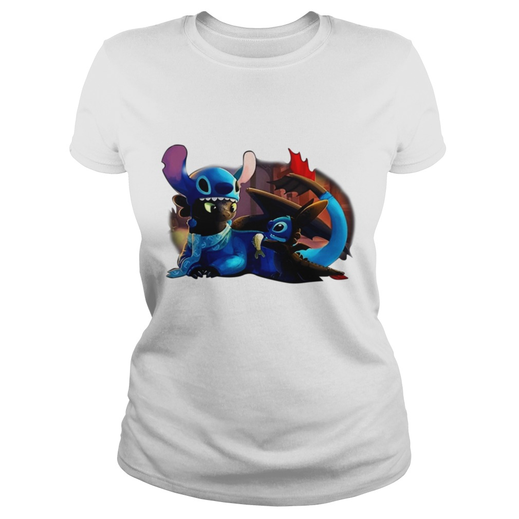 When Toothless and Stitch have sleepovers Ladies Tee