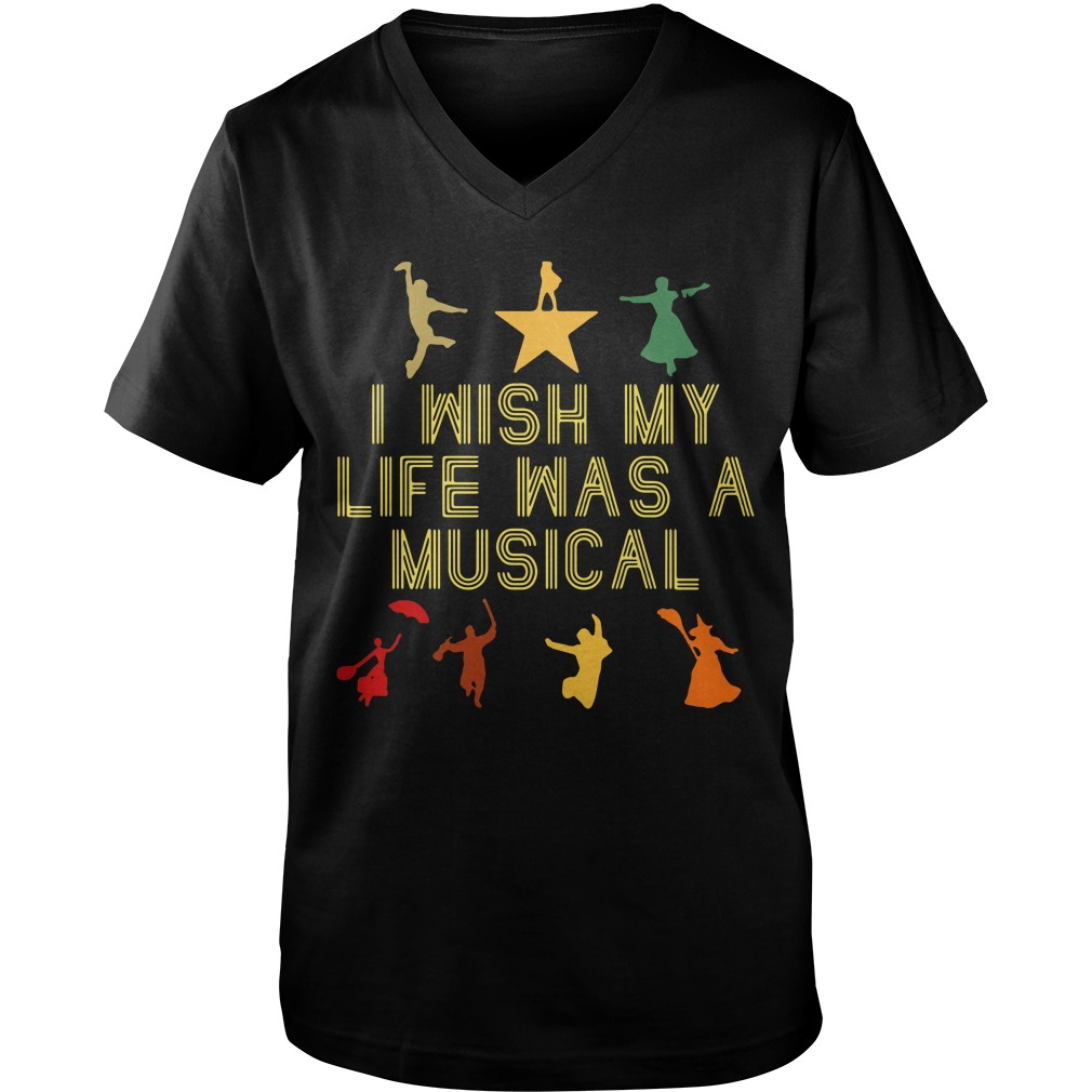 I wish my life was a musical Guy V-Neck