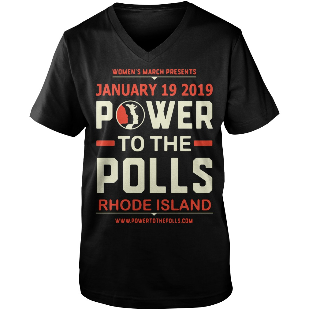 Women's March 2019 Power to the Polls Rhode Island Guy V-Neck