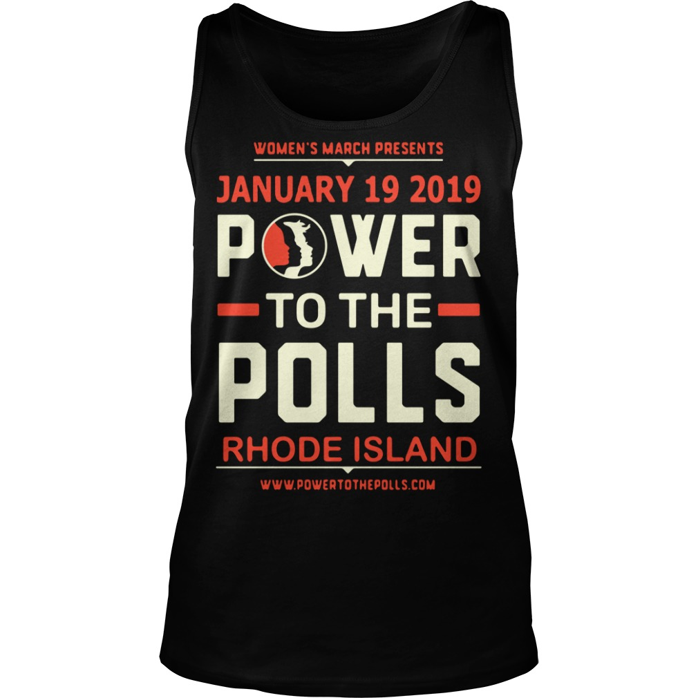 Women's March 2019 Power to the Polls Rhode Island Tank Top