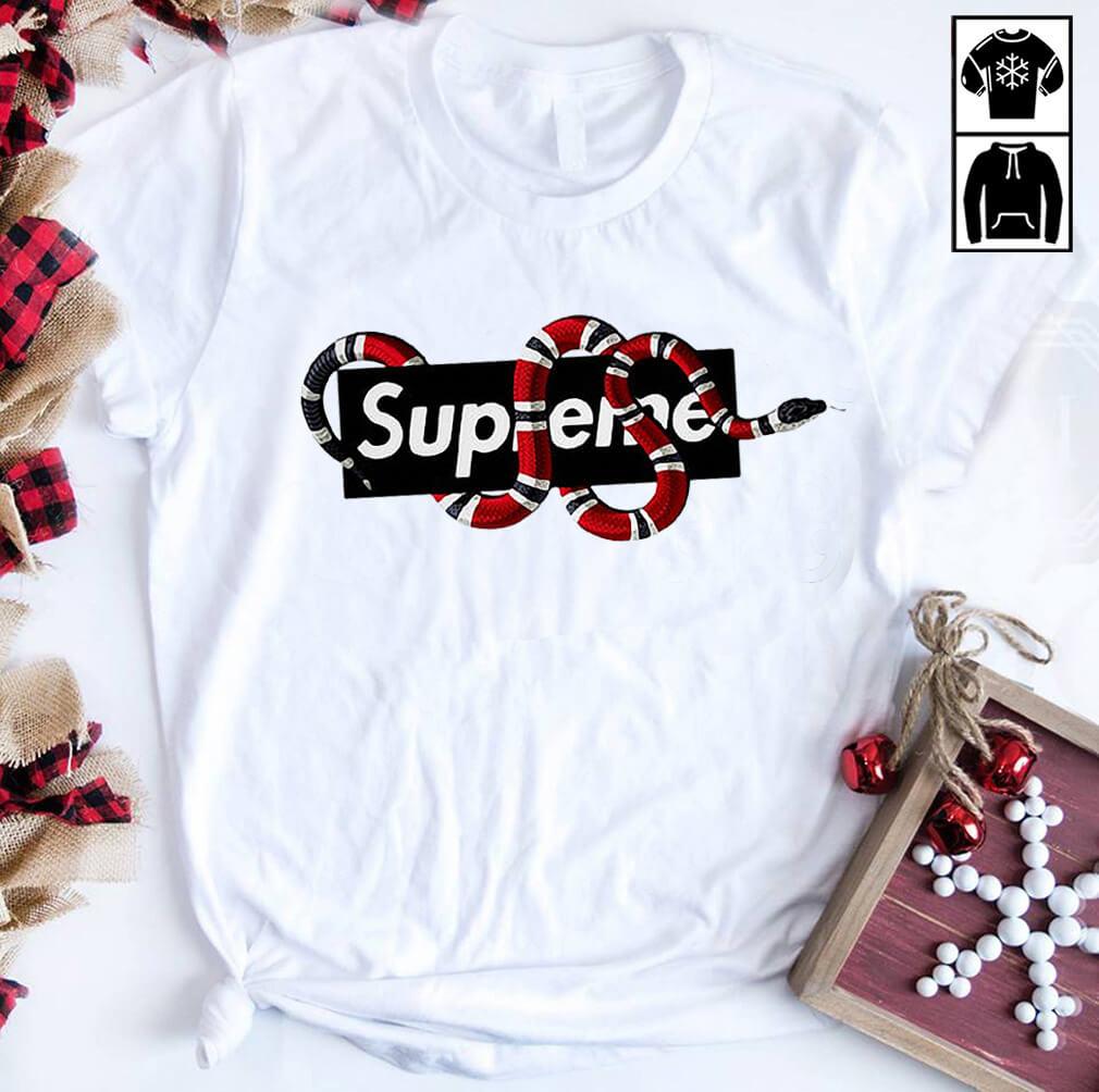 Supreme snake Gucci shirt