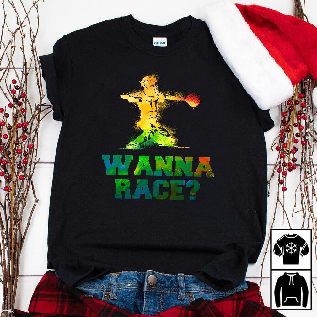 Baseball catcher wanna race shirt