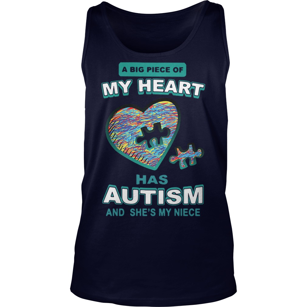 A big piece of my heart has autism and she's my niece Tank Top