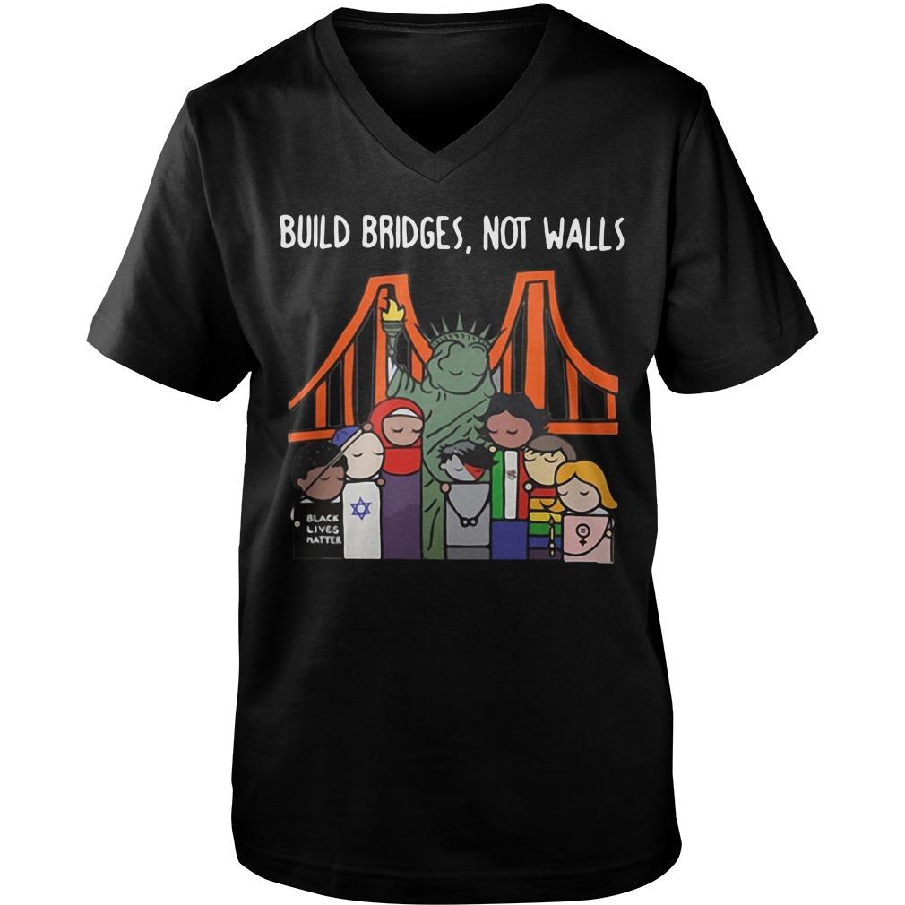 Build bridges not walls  Guy V-Neck