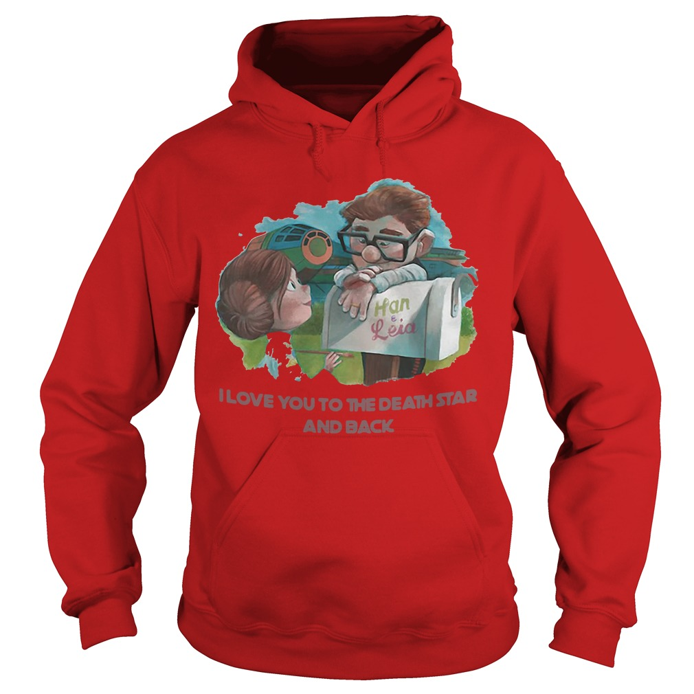 Han and Leia I love you to the death star and back kid Hoodie