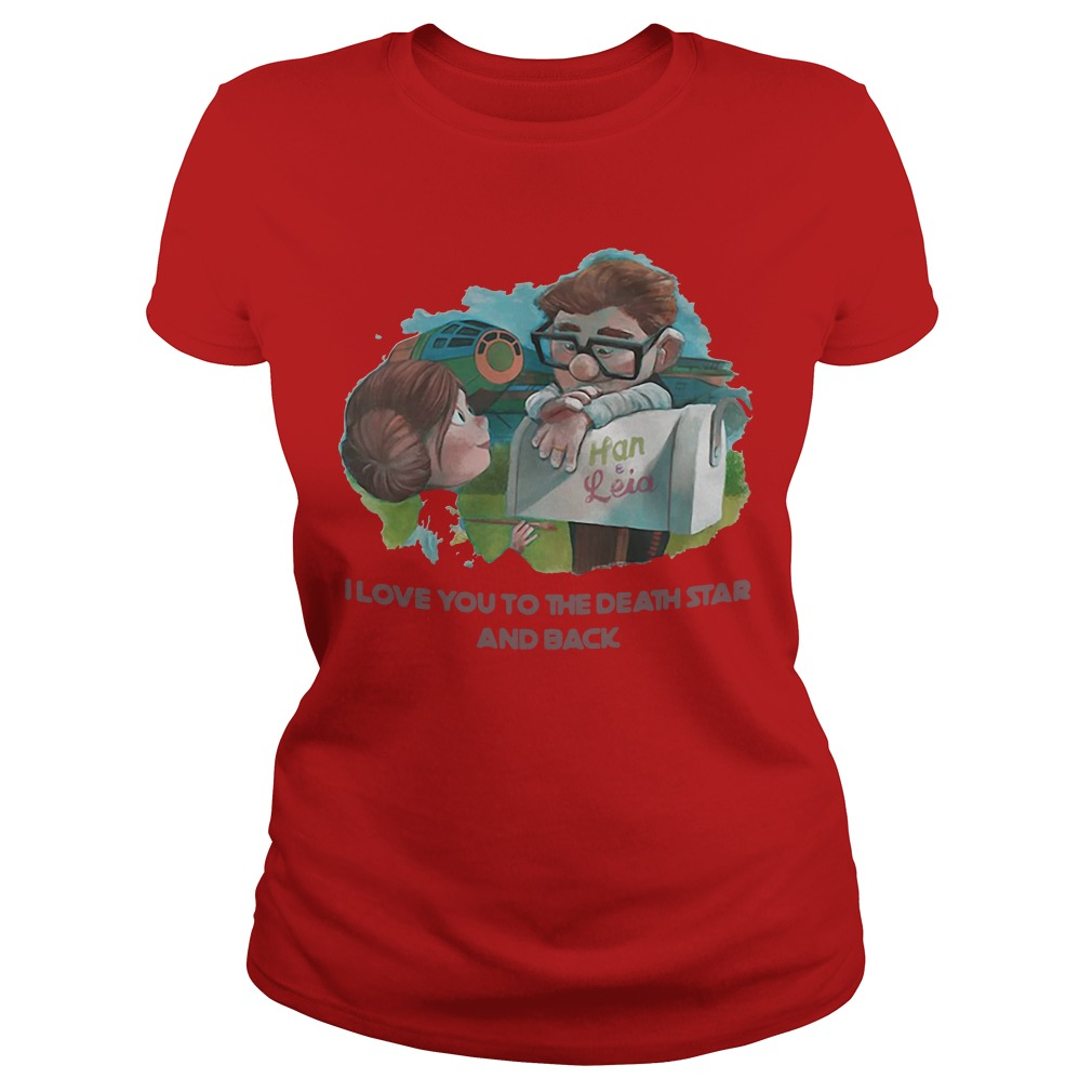 Han and Leia I love you to the death star and back kid Ladies Tee