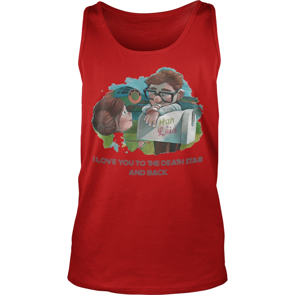 Han and Leia I love you to the death star and back kid Tank Top