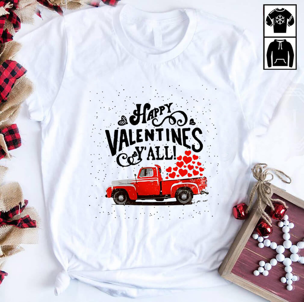 Red Car Happy Valentines Y'All Shirt