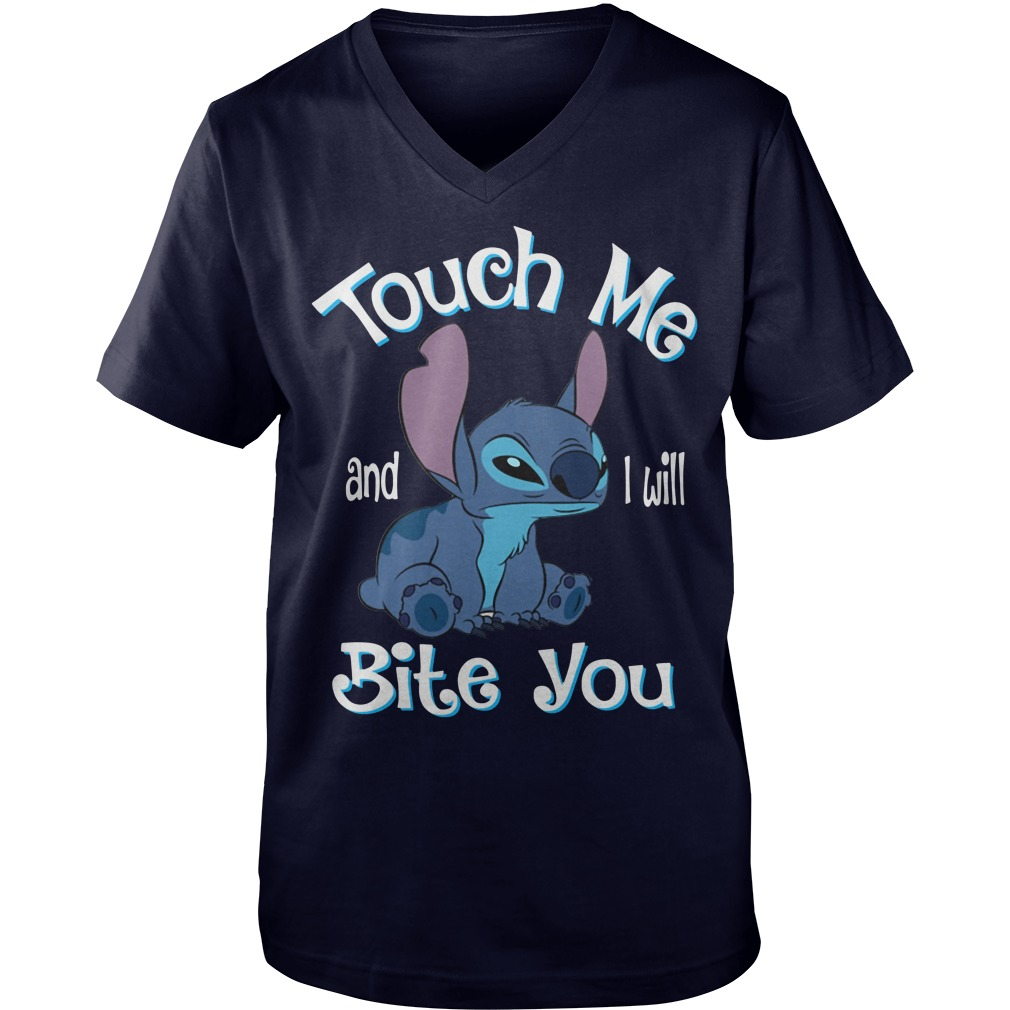 Stitch touch me and I will bite you Guy V-Neck