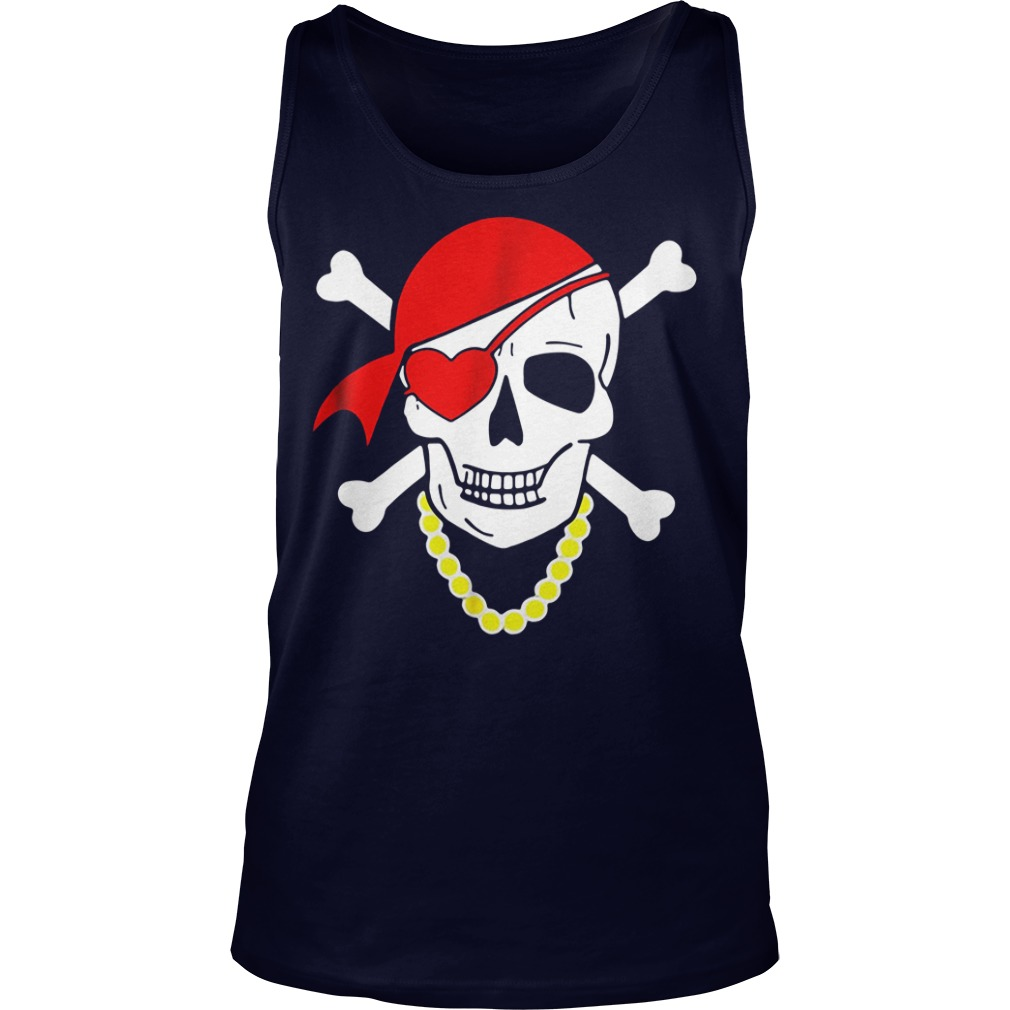 Valentine skull and heart Tank Top