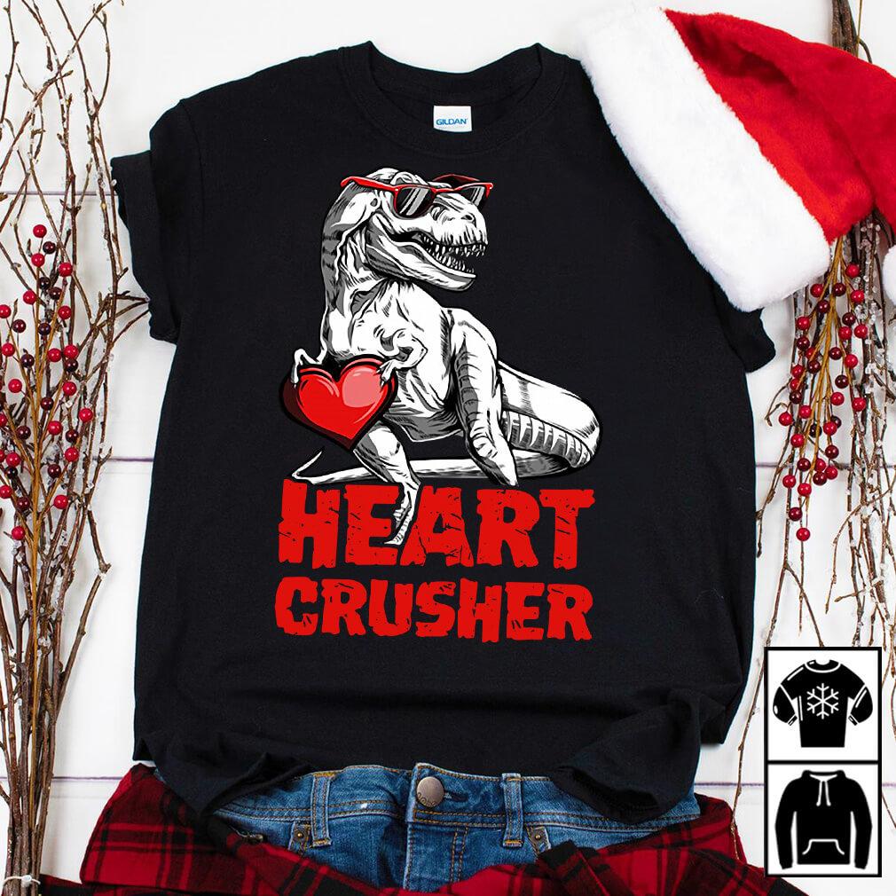 Valentines Day Dinosaurs Heart Crusher Shirt