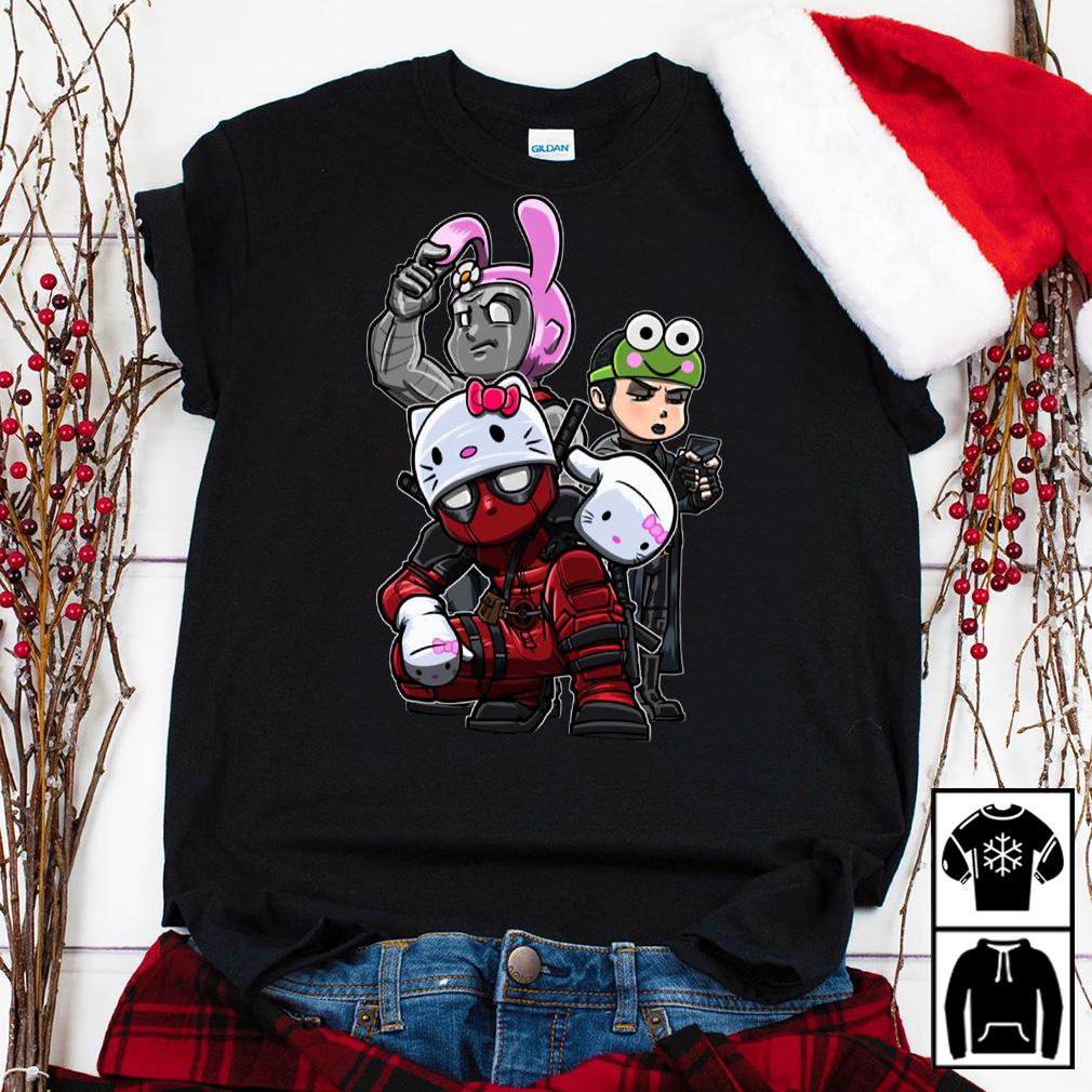 Team Hello Kitty Deadpool Colossus and Negasonic Teenage Warhead shirt