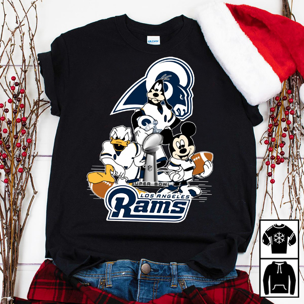 Donald Duck Goofy And Mickey Mouse Los Angeles Rams shirt