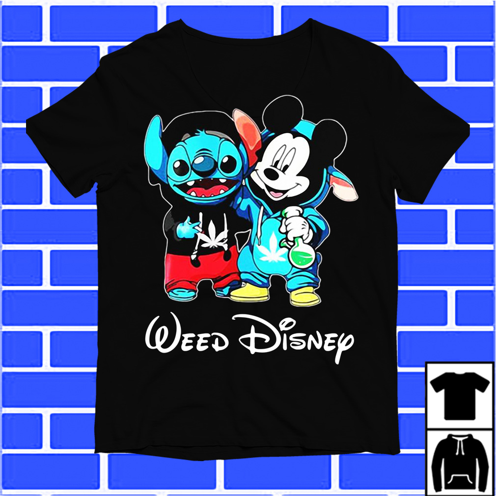 Baby Stitch And Mickey Mouse Weed Disney shirt