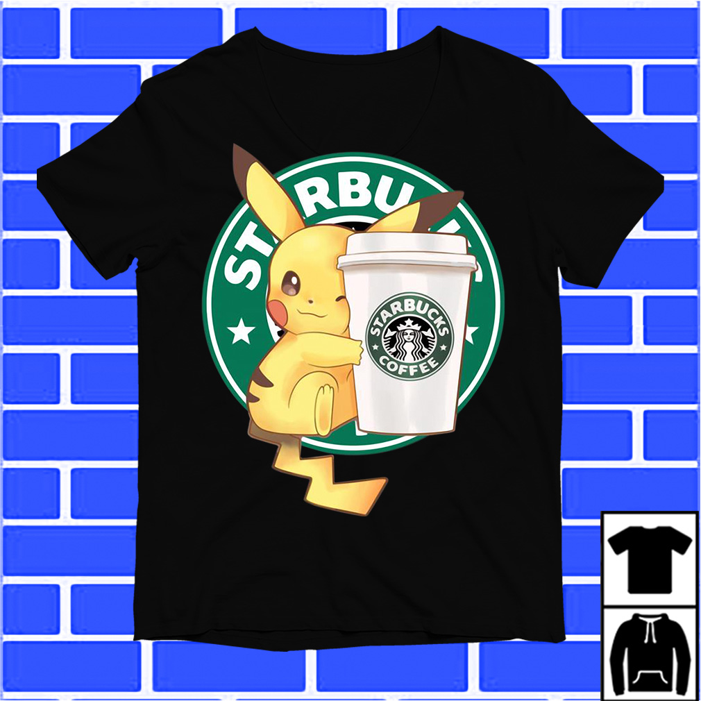Pikachu Starbucks Coffee shirt