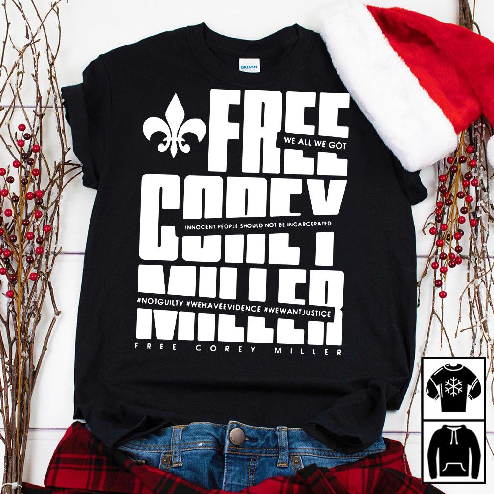 Free Corey Miller shirt