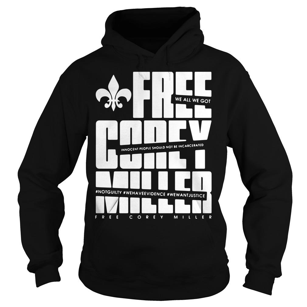 Free Corey Miller Hoodie