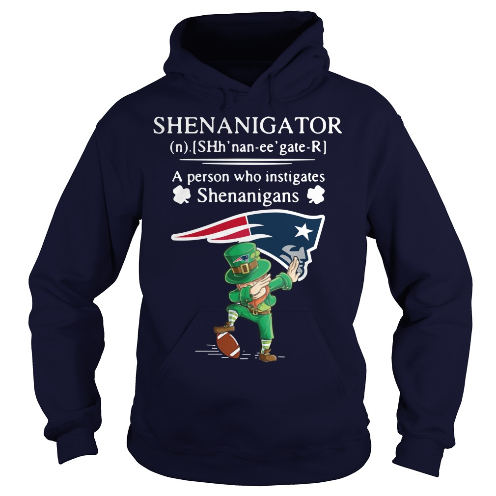 Leprechaun New England Patriots Dabbing Shenanigator Definition Meaning A Person Who Instigates Shenanigans Hoodie