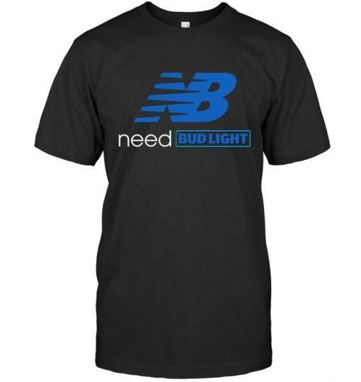 NB need Bud Light New Balance shirt