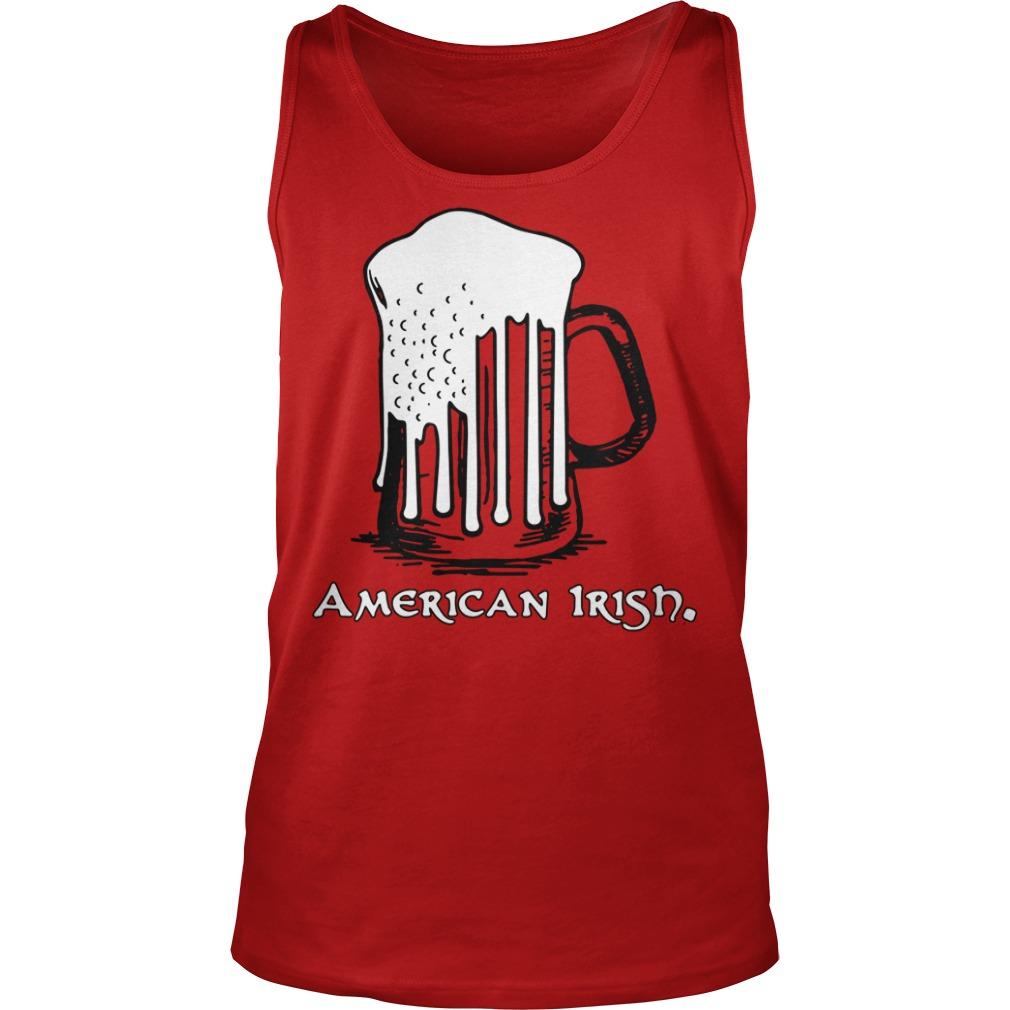 St Patrick's Day Beer Flag American Irish Tank Top