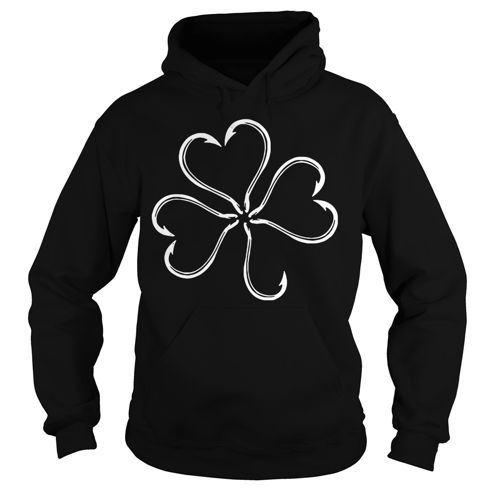 St Patrick's Day Clover Fish Hook Hoodie