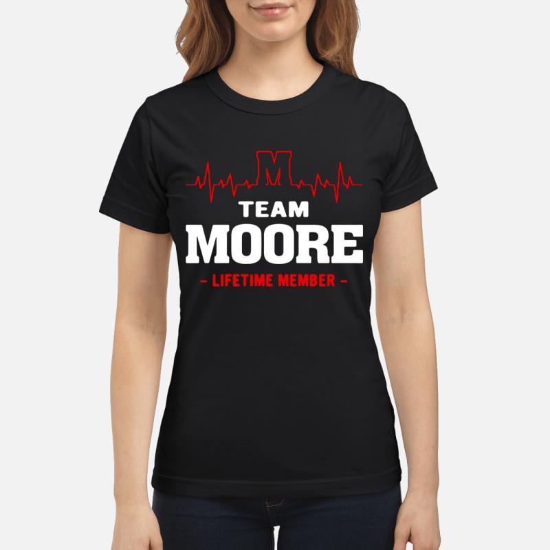 Team Moore Lifetime Member Ladies Tee
