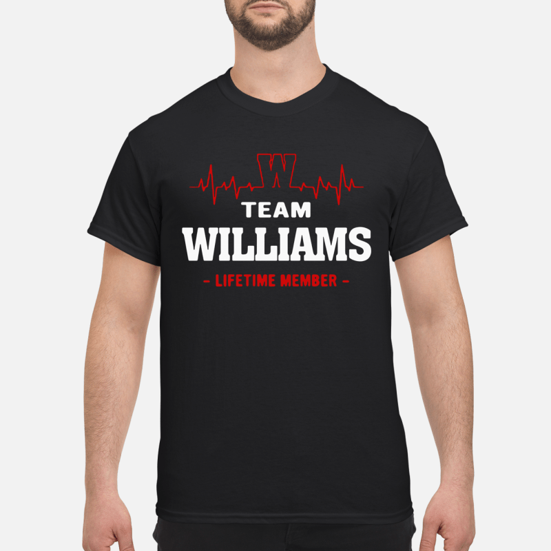 Team Williams Lifetime Member Guy Tees