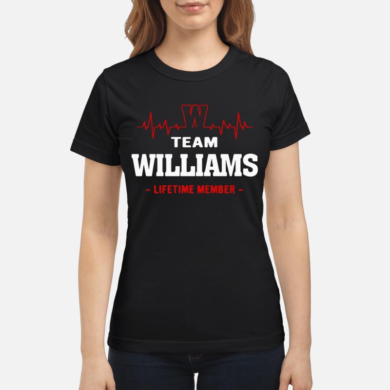 Team Williams Lifetime Member Ladies Tee