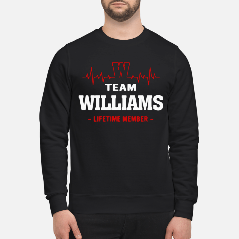 Team Williams Lifetime Member Sweater